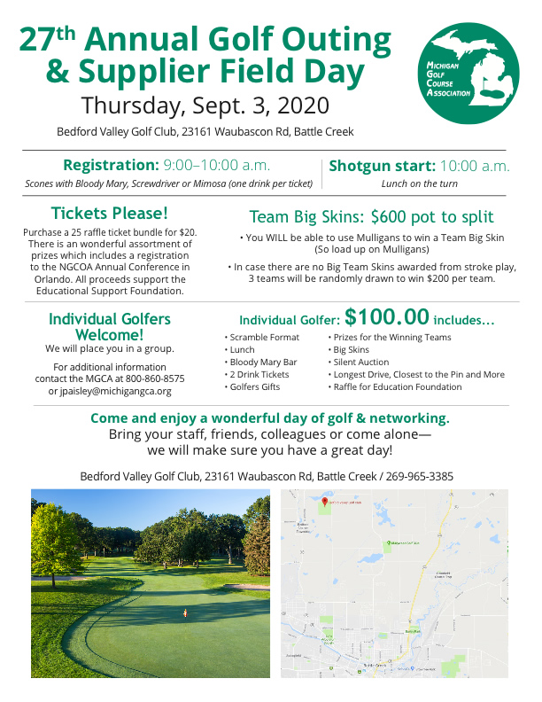 2020 golf outing flyer